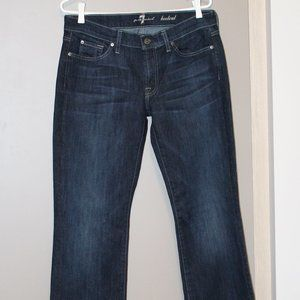 7 for All Mankind Bootcut Dark Jeans | Size 31